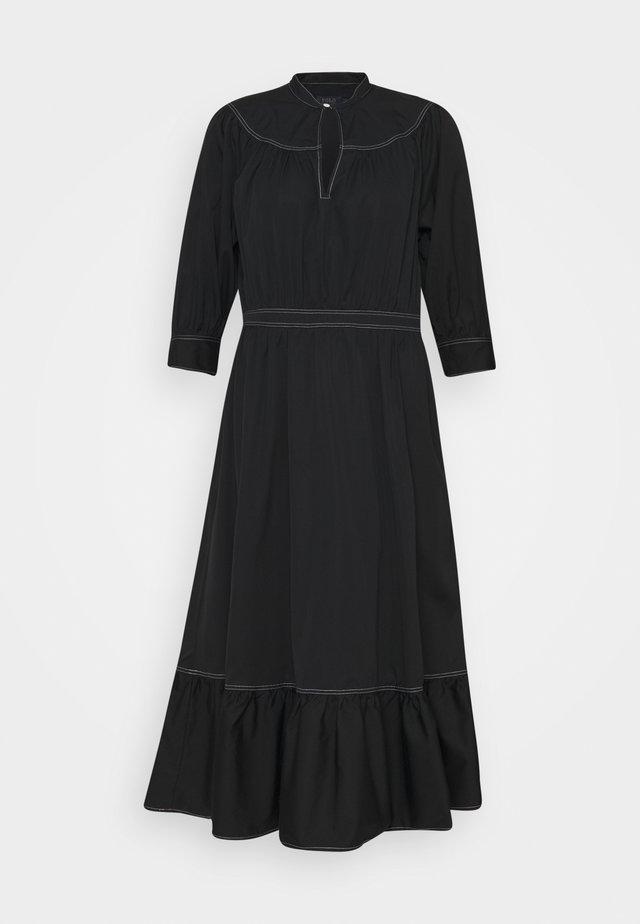 SHORT SLEEVE CASUAL DRESS - Day dress - polo black