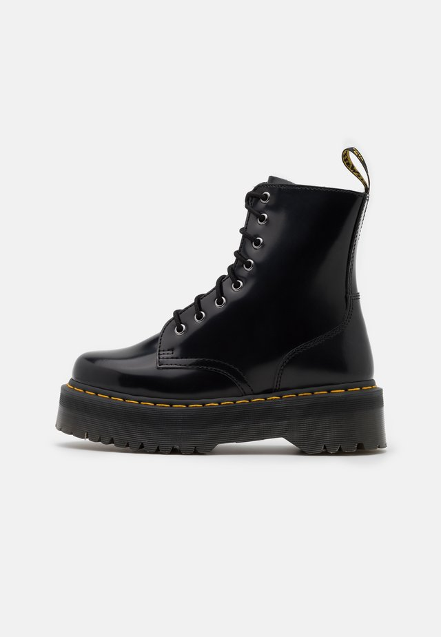 JADON ZIP - Bottines à plateau - black/yellow