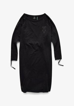 RAGLAN BACK SNAPS - Jersey dress - dk black