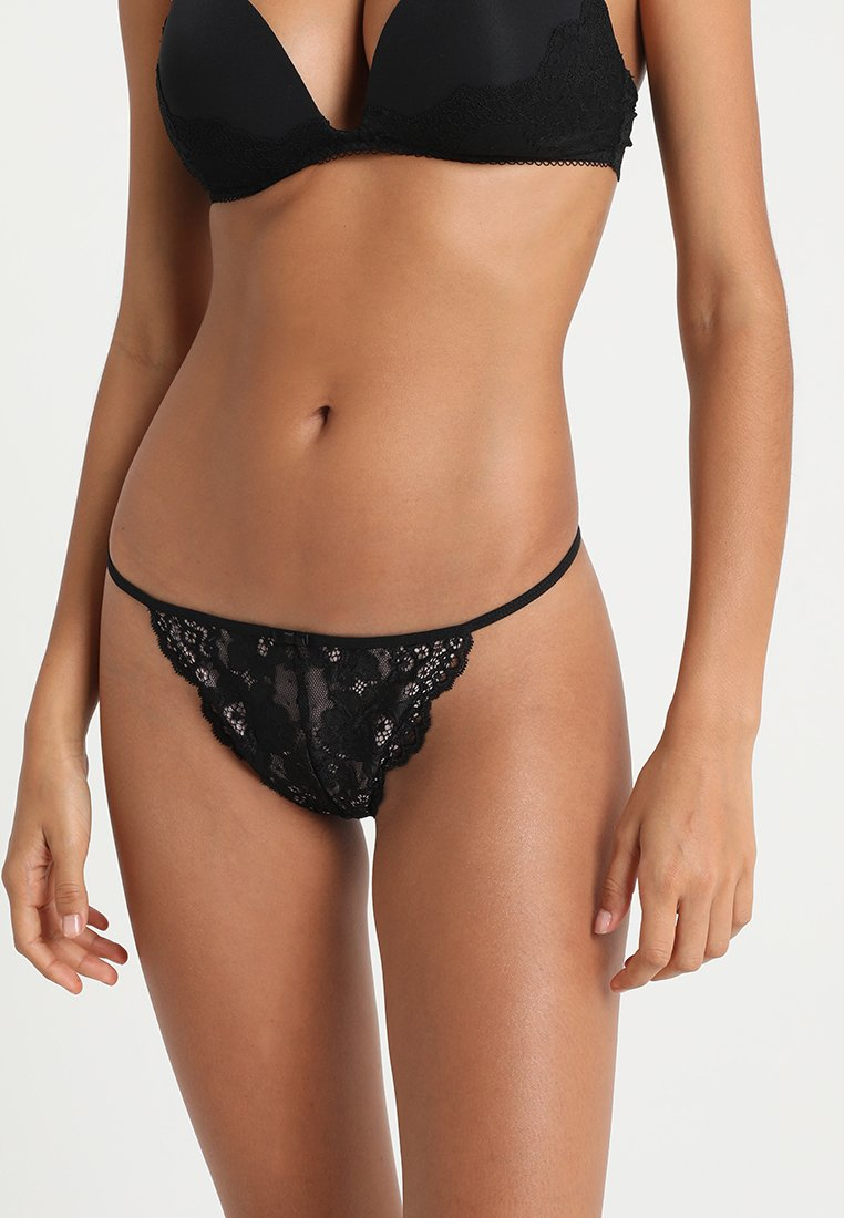 Pour Moi - AMOUR ACCENT THONG - Thong - black/pink