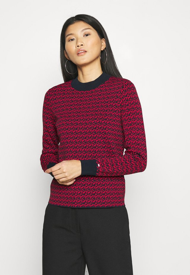 Sweter - cube desert sky/primary red