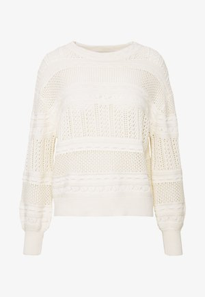 POINTELLE OPEN - Jumper - white