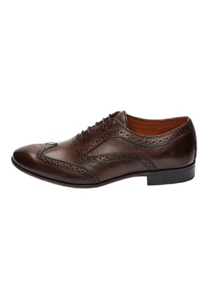 BROWN BROGUE SHOES - Zapatos con cordones - brown
