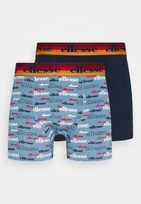 Ellesse - MENS PRINTED 2 PACK - Underkläder - grey/navy - 3