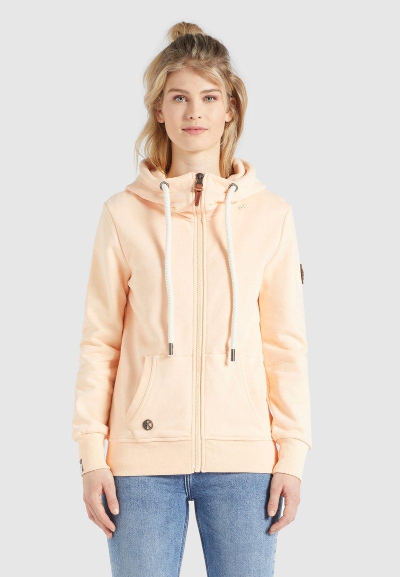 khujo - WANARI - Zip-up sweatshirt - apricot