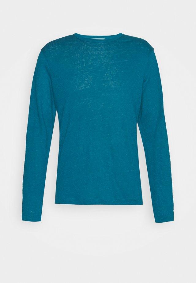 CREW SOLID - T-shirt à manches longues - seaport blue