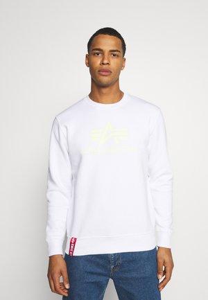 Basic Print - Sweatshirt - white/neon yellow