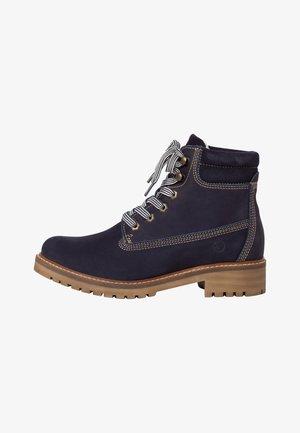 STIEFELETTE - Platform ankle boots - navy