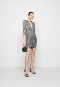 Iro - CLUZCO - Shift dress - black/silver - 1
