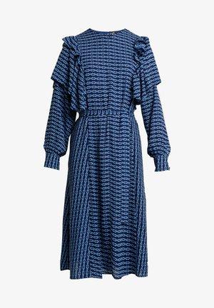 SAGACRAS - Denní šaty - navy monogram
