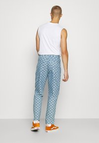 Vintage Supply - CHECKERBOARD WIDE LEG - Relaxed fit jeans - blue - 2