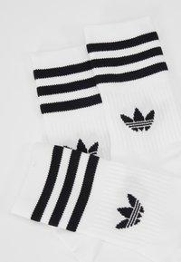 adidas Originals - MID CUT 3 PACK - Strumpor - white/black - 2