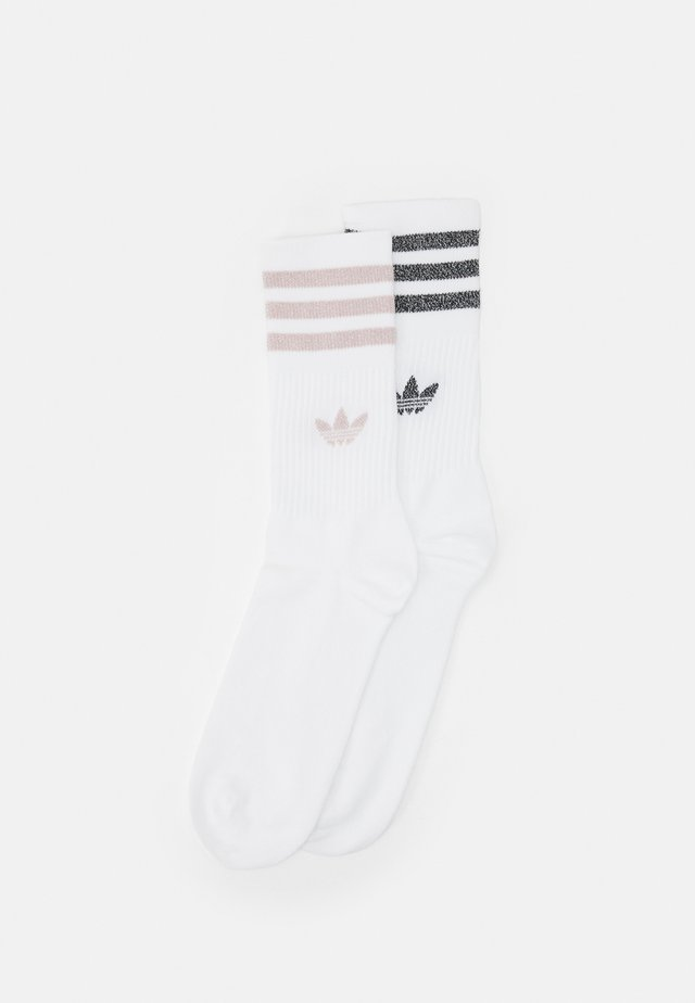 MID CUT UNISEX 2 PACK - Calcetines - white/pink tint