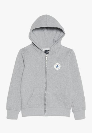 CHUCK PATCH FULL ZIP HOODIE  - Felpa aperta - dark grey heather