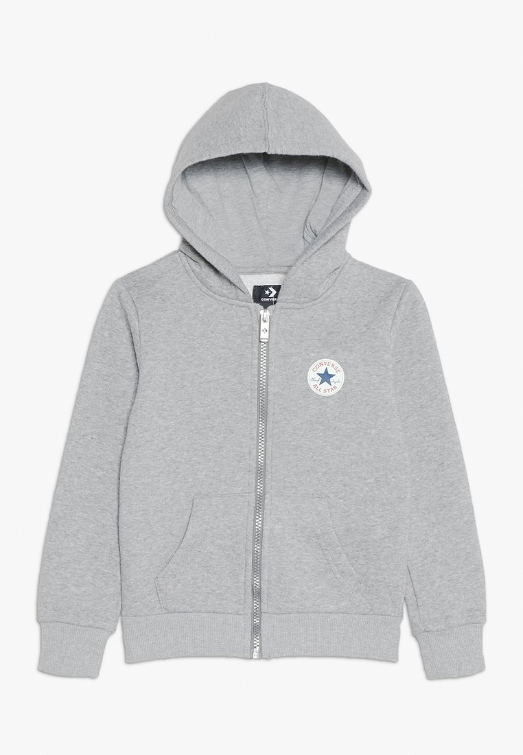Converse - CHUCK PATCH FULL ZIP HOODIE  - Hoodie met rits - dark grey heather