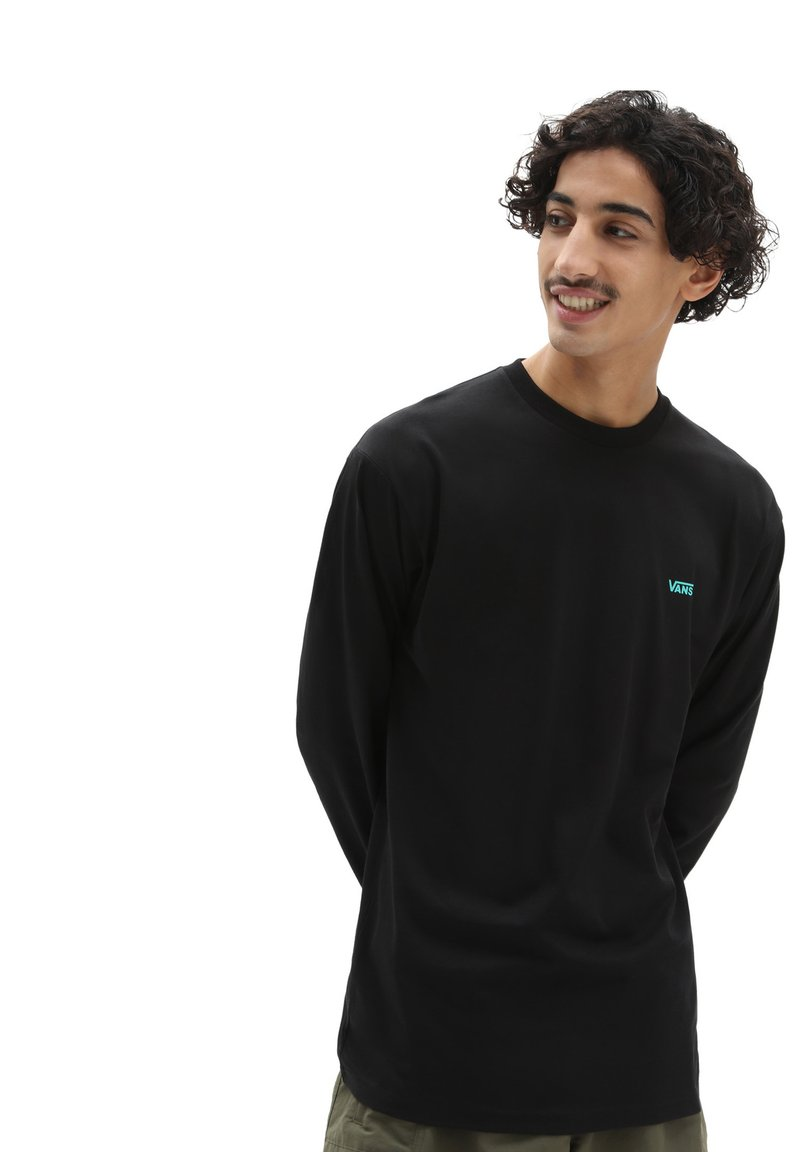 Vans - MN LEFT CHEST HIT LS - Långärmad tröja - black/waterfall