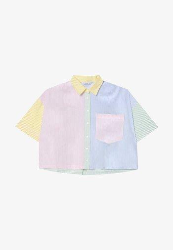 SHORT SLEEVE - Button-down blouse - multi-coloured