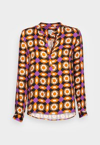 Emily van den Bergh - BLOUSE - Blouse - orange brown lilac geometric - 3