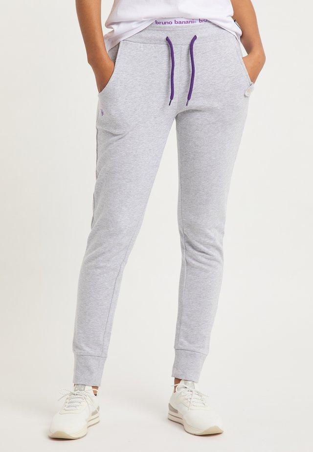 Pantaloni sportivi - hellgrau melange