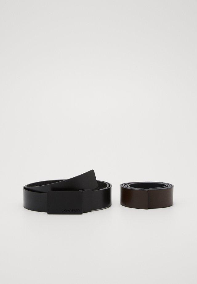 ADJUSTABLE PLAQUE GIFTSET - Ceinture - black