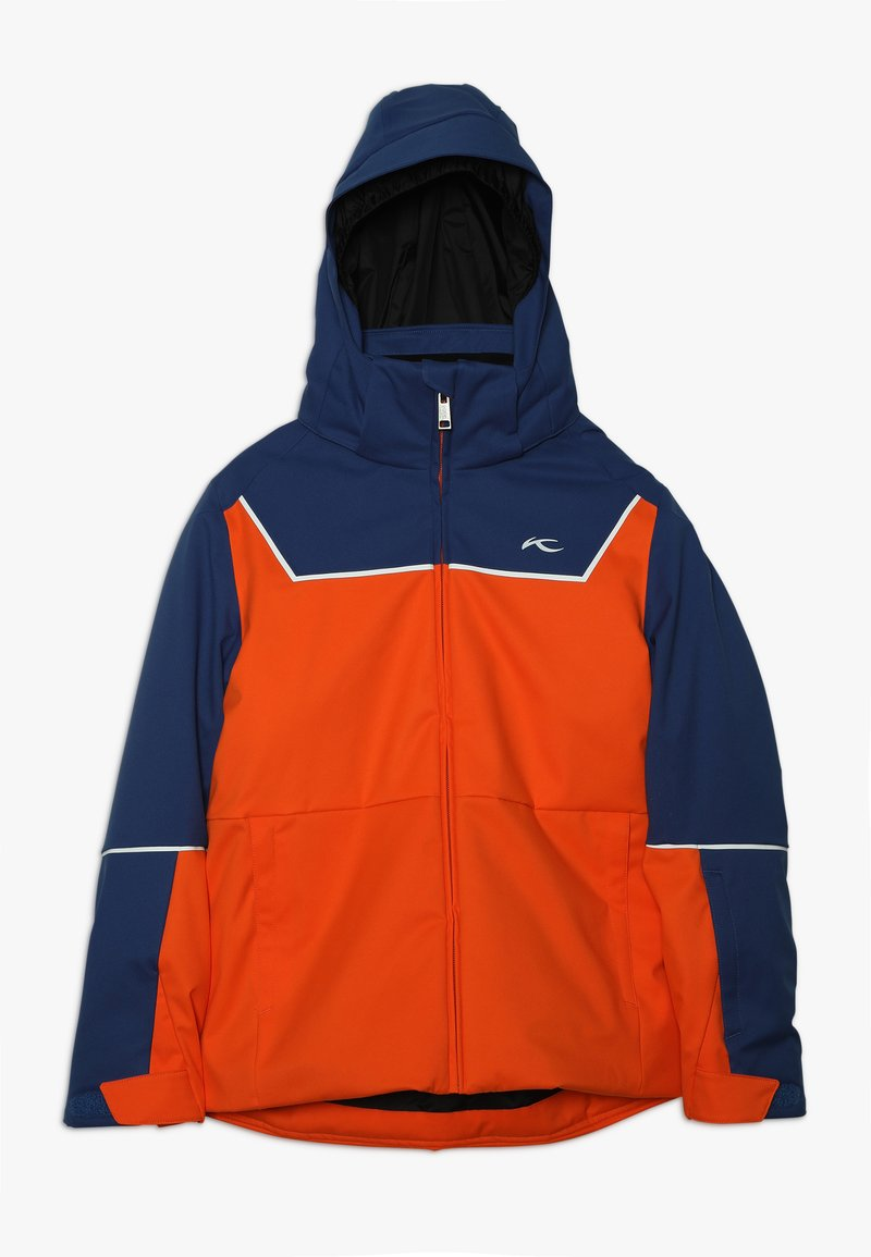 Kjus - BOYS SPEED READER JACKET - Ski jacket - orange/south blue