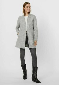 Vero Moda - Abrigo corto - light grey melange - 1