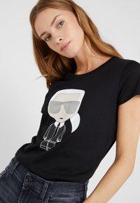KARL LAGERFELD - IKONIK - T-shirts med print - black - 3