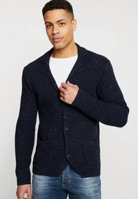 Pier One - Cardigan - mottled dark blue - 0