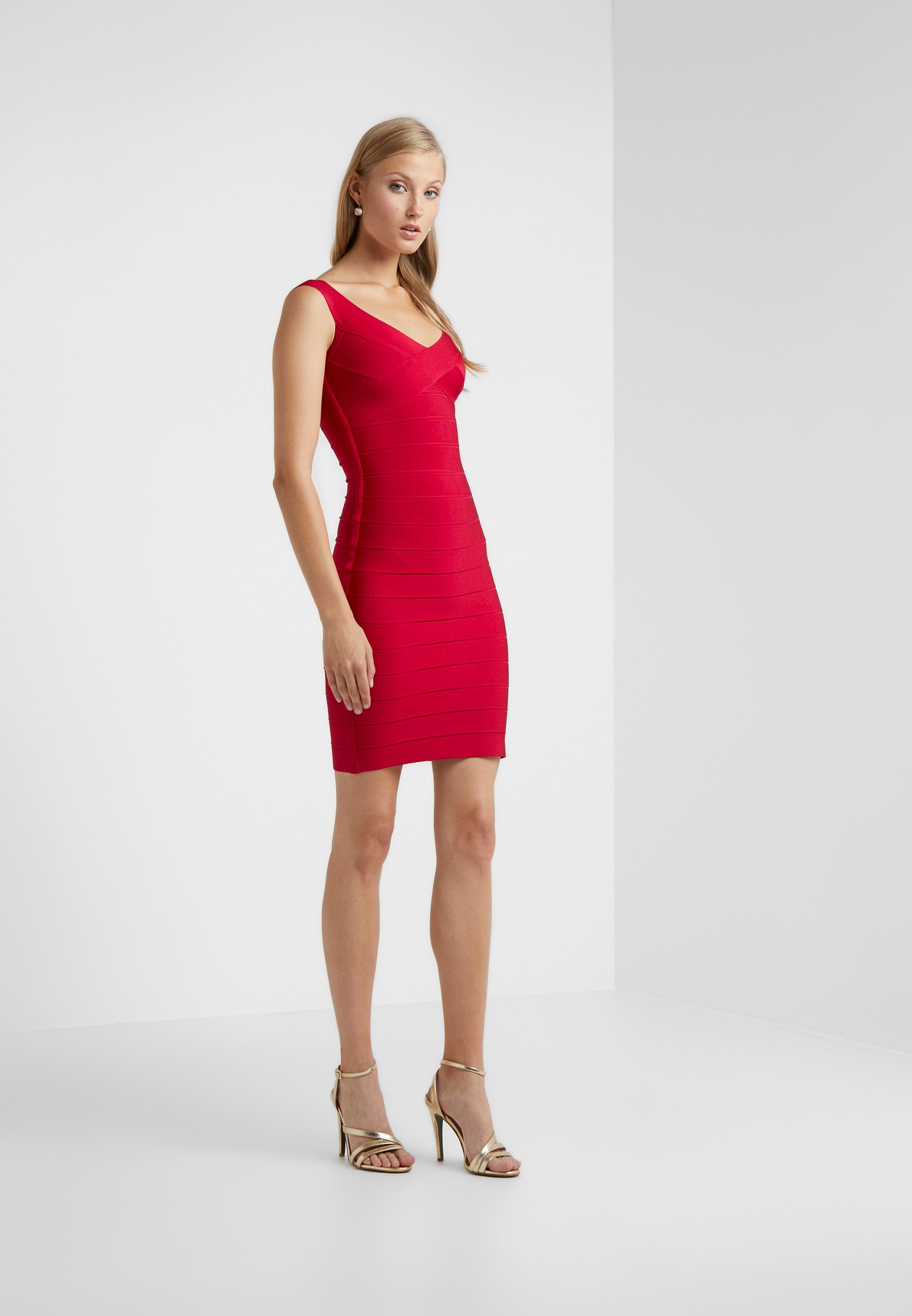 Women V NECK BANDAGE DRESS - Shift dress