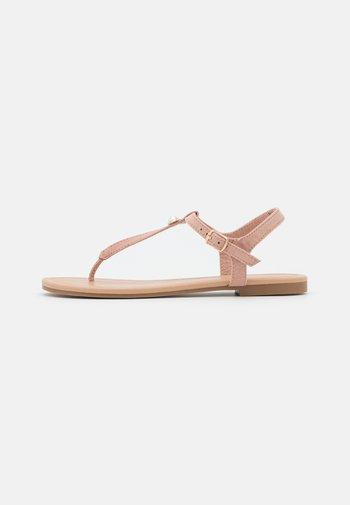 T-bar sandals - light pink