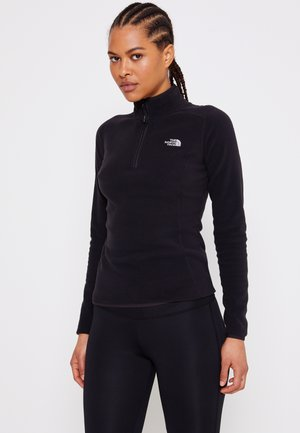 GLACIER ZIP MONTEREY - Fleece jumper - black