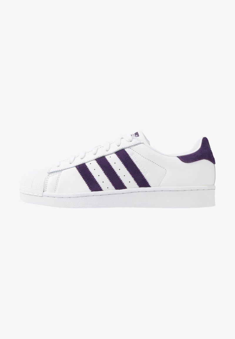 adidas Originals - SUPERSTAR - Sneakersy niskie - footwear white/legend purple