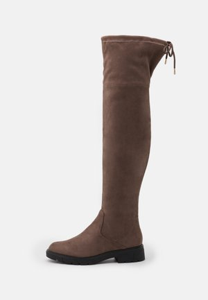 Over-the-knee boots - dark taupe
