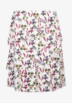 A-line skirt - offwhite gemustert