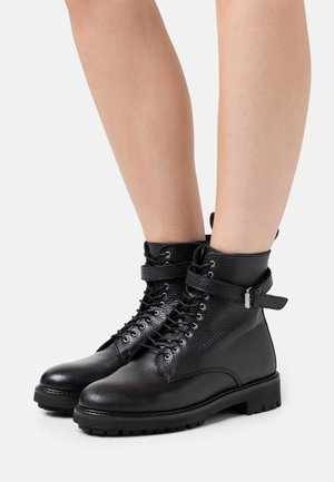 FINLEY - Lace-up ankle boots - black