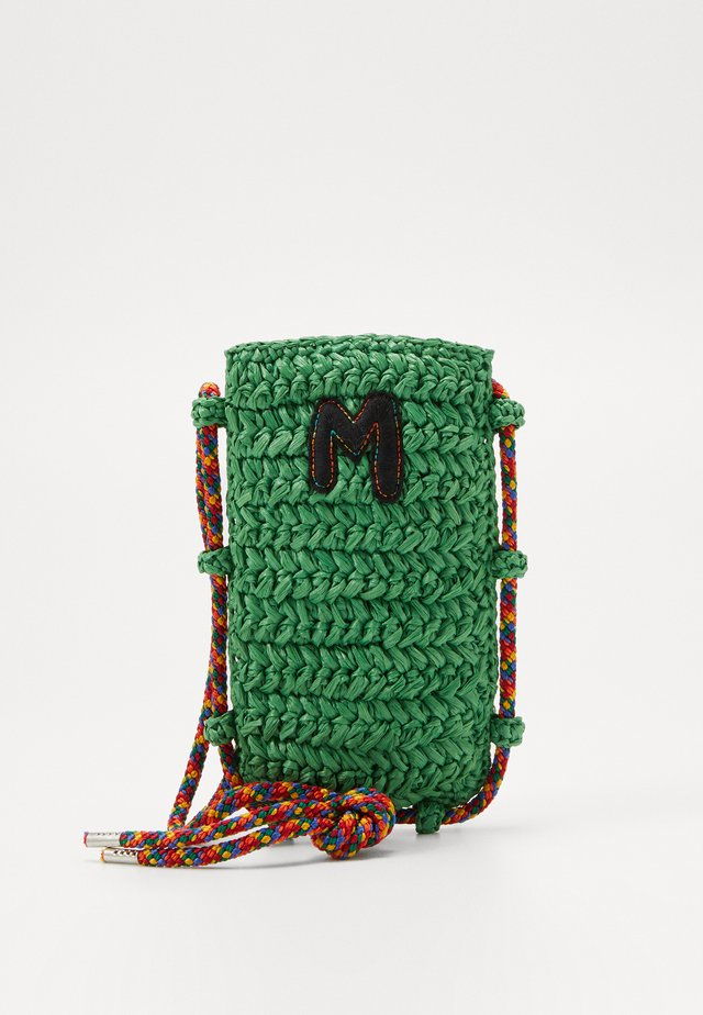 PORTACELLULARE CROCHET - Across body bag - green