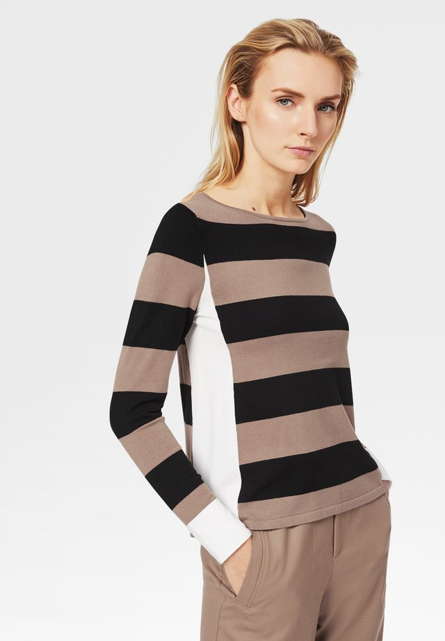 Pullover - braun/schwarz