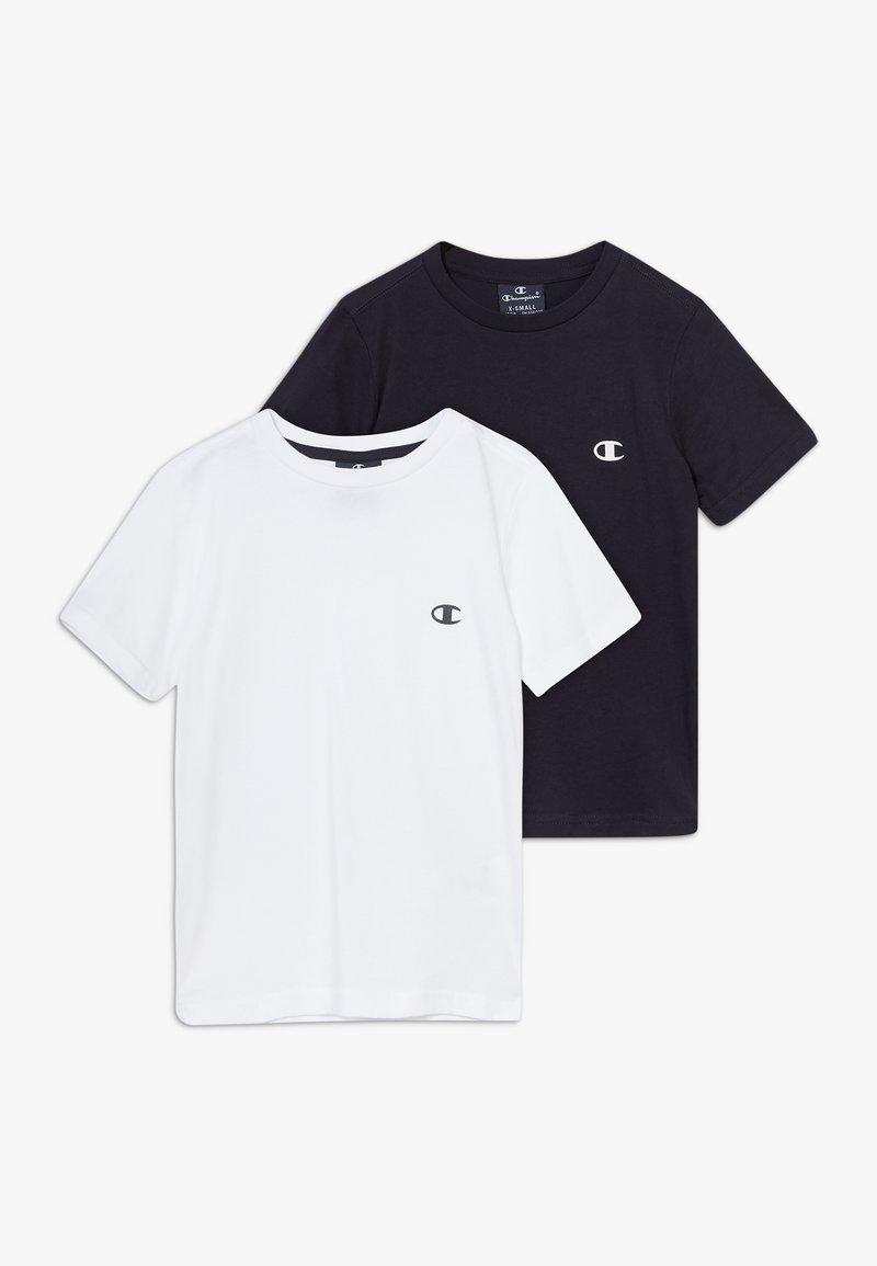 Champion - LEGACY CHAMPION BASICS CREW-NECK 2 PACK - T-shirt basic - white/navy