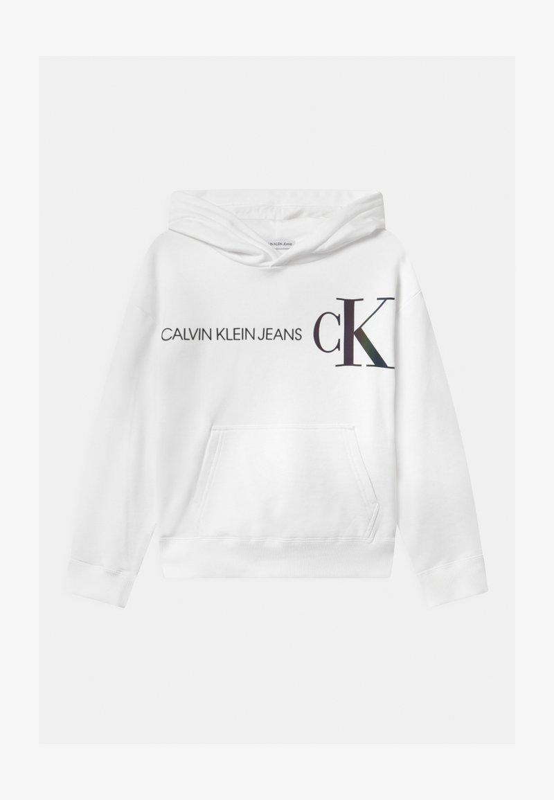 Calvin Klein Jeans - REFLECTIVE LOGO HOODIE - Jersey con capucha - white
