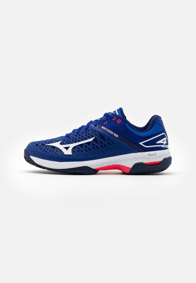 WAVE EXCEED TOUR 4 CC - Zapatillas de tenis para tierra batida - reflex blue/white/diva pink