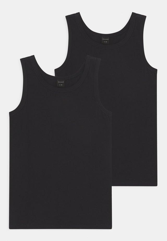 TEENS TANKS 95/5 2 PACK - Undershirt - schwarz
