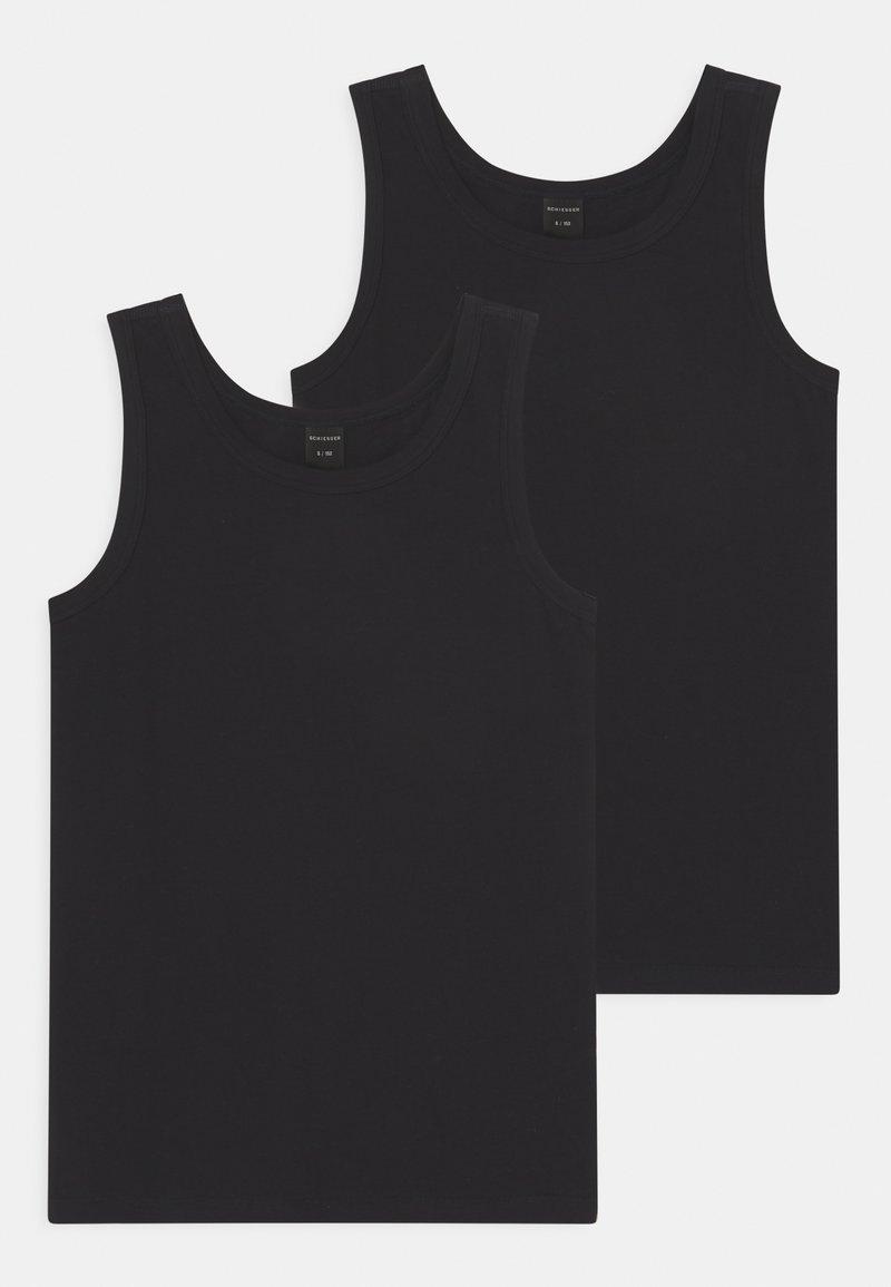 Schiesser - TEENS TANKS 2 PACK - Undershirt - schwarz