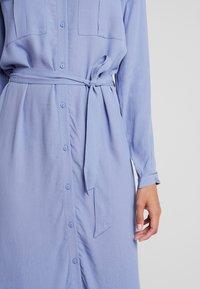Moss Copenhagen - IDINA GENNI DRESS - Shirt dress - colony blue - 5