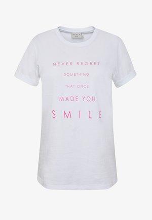 TIVA - Printtipaita - white smile