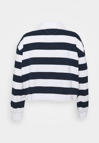 Tommy Jeans Curve - STRIPED RUGBY - Polo shirt - twilight navy - 7