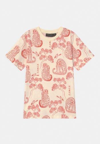 TIGERS UNISEX - Print T-shirt - offwhite