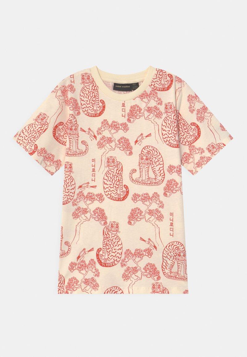 Mini Rodini - TIGERS UNISEX - Print T-shirt - offwhite