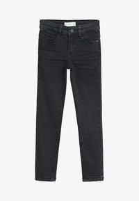 Mango - SLIM - Slim fit jeans - black denim - 0