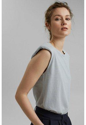 PADDED TEE - Basic T-shirt - grey blue