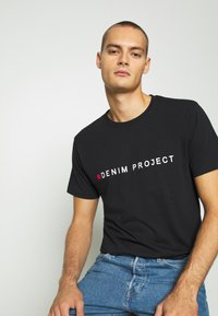 Denim Project - LOGO TEE - T-shirt con stampa - black - 3